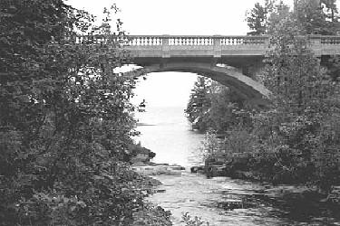 french river bridge