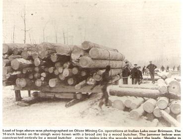 logging Indian Lake