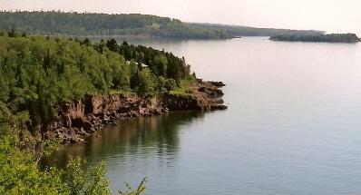 view of lake closer