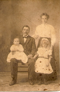 Richard Abrahamson, wife and two children