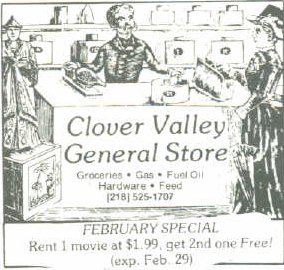 Clover Valley General Store Ad