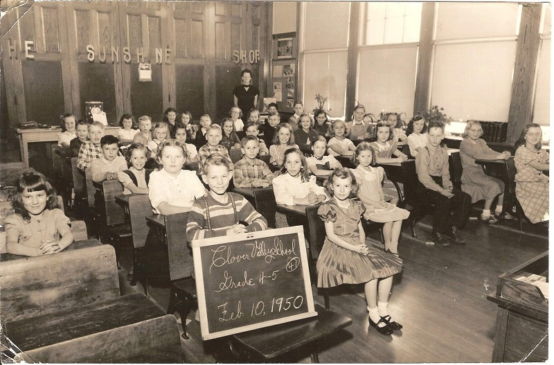 Clover Valley 4th & 5th grade class 1951